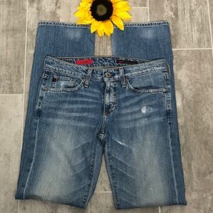 AG Adriano Goldschmted Tomboy Fit Blue Jeans